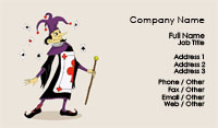 Clown Illustration Business Card Template